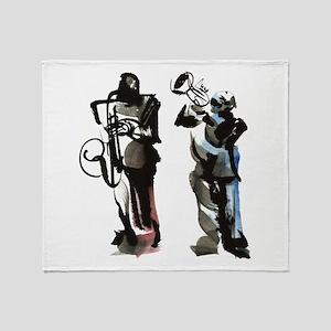 Jazz musicians Throw Blanket