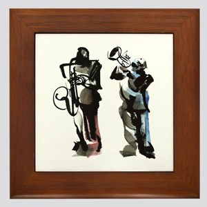Jazz musicians Framed Tile