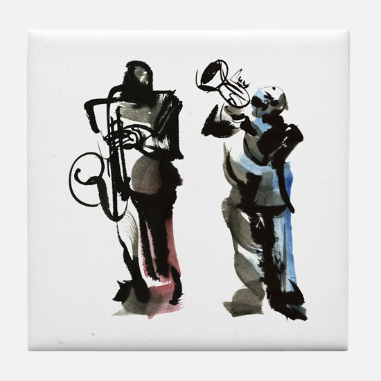 Jazz musicians Tile Coaster