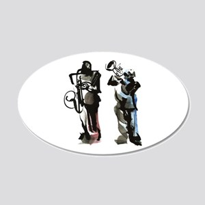 Jazz musicians 20x12 Oval Wall Decal