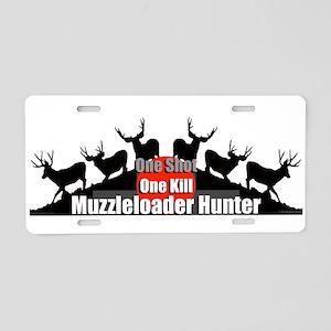 Muzzleloader Aluminum License Plate