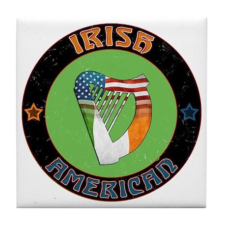 Irish American Harp Tile Coaster