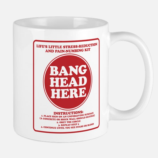 Bang Head Here Stress Reduction Kit Mug