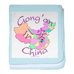 Gong'an China Map baby blanket