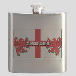 England Lion Flag Flask