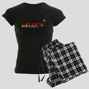 German Football Evolution Women's Dark Pajamas