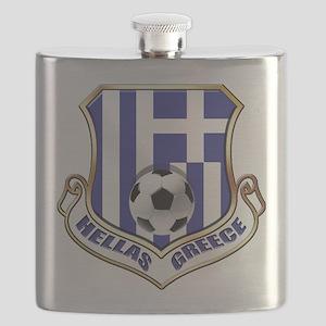 Greek Soccer Shield Flask