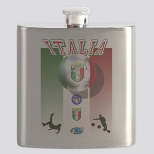 Italia Italian Football Flask
