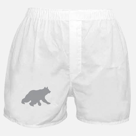 Gray Bear Cub Crossing Walking Silhouette Boxer Sh