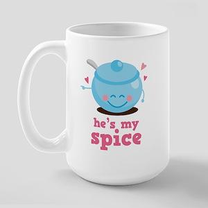 He's My Spice Large Mug