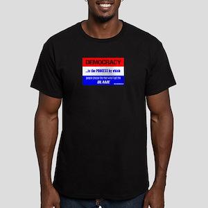 Democracy/t-shirt Men's Fitted T-Shirt (dark)
