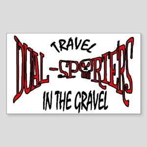 Travel in the Gravel Sticker (Rectangle)