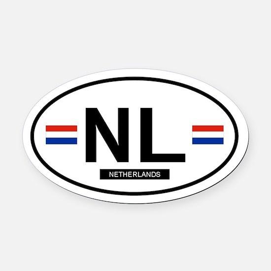 NETHERLANDS.png Oval Car Magnet