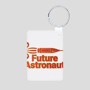 Future Astronaut Aluminum Photo Keychain
