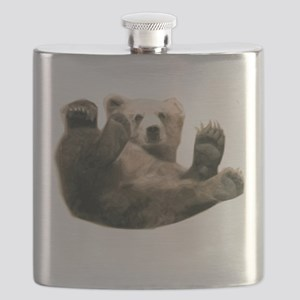 Brown Bottom Bear Cub Playful Fuzzy Wuzzy Flask