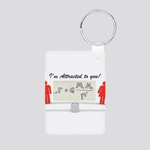 I'm Attracted to you Aluminum Photo Keychain