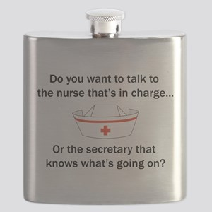 Nurse-Secretary Flask