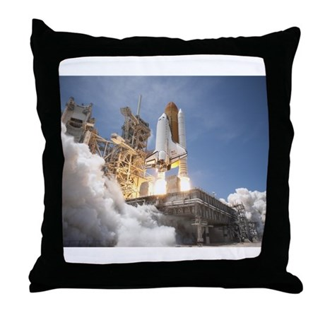 Atlantis Launch STS 132 Throw Pillow