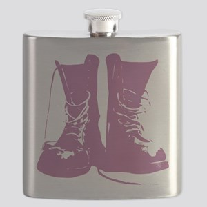 Purple Combat Boots with Untied Laces Flask