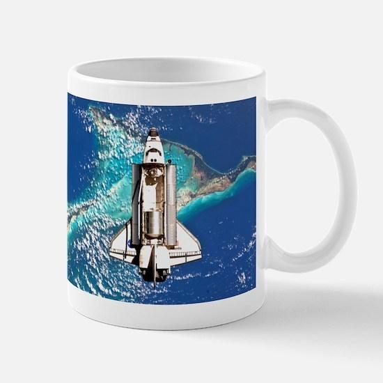 Shuttle Atlantis over Bahamas Mug