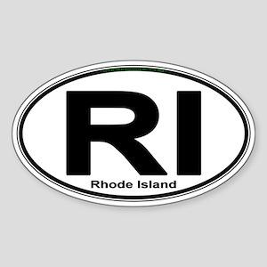 Rhode Island Euro-style Oval Sticker