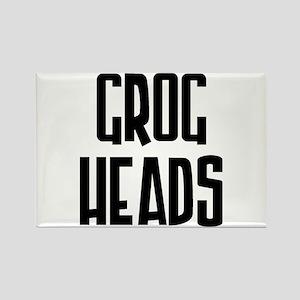 GrogHeads Text Logo Rectangle Magnet