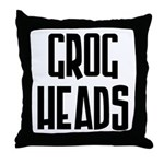 GrogHeads Text Logo Throw Pillow