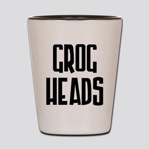 GrogHeads Text Logo Shot Glass