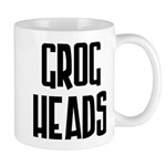 GrogHeads Text Logo Mug