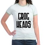 GrogHeads Text Logo Jr. Ringer T-Shirt