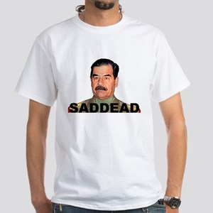 saddam White T-Shirt