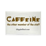 Caffeine On Staff Rectangle Magnet (10 pack)