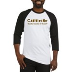 Caffeine On Staff Baseball Jersey