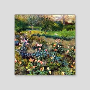 "Renoir Rose Grove Square Sticker 3"" x 3"""