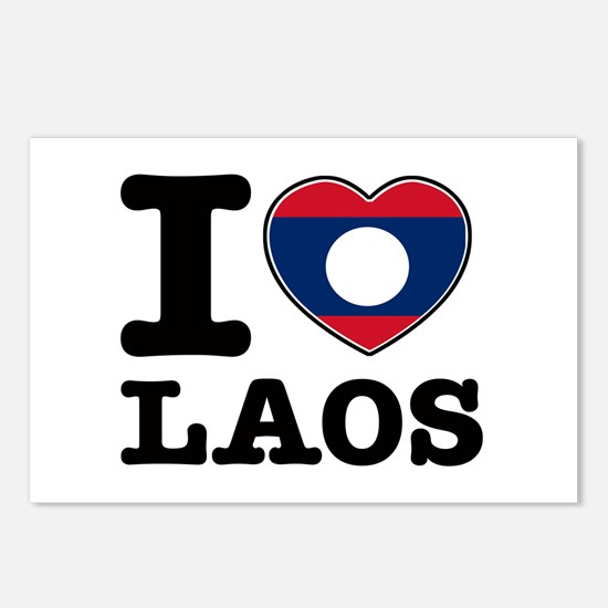 I heart Laos Postcards (Package of 8)