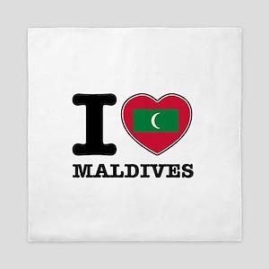 I heart Maldives Queen Duvet
