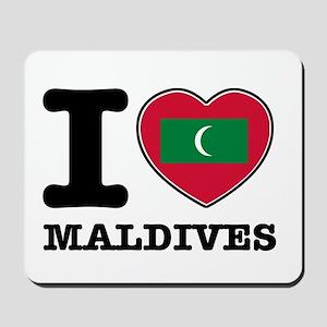 I heart Maldives Mousepad