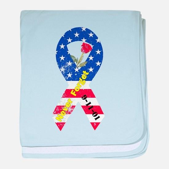 September 11 Anniversary baby blanket