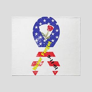 September 11 Anniversary Throw Blanket