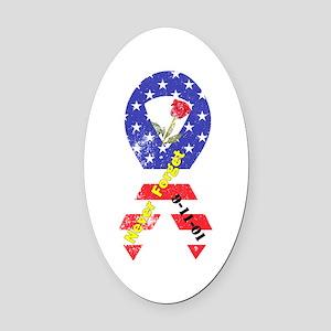 September 11 Anniversary Oval Car Magnet