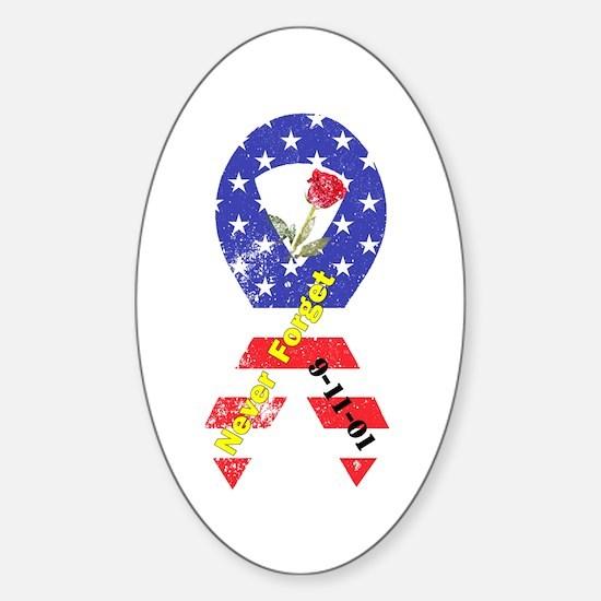 September 11 Anniversary Sticker (Oval)