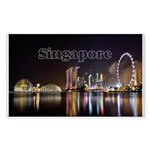 Singapore Sticker (Rectangle 10 pk)