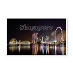 Singapore Rectangle Car Magnet