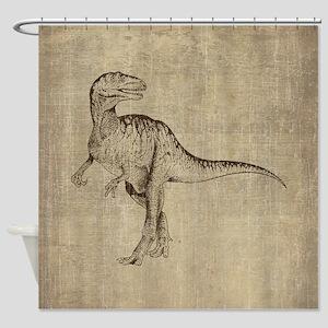 Vintage Tyrannosaurus Shower Curtain
