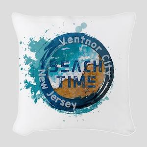 New Jersey - Ventnor City Woven Throw Pillow