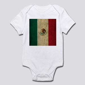 Grunge Mexico Flag Infant Bodysuit