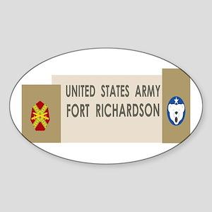 Fort Richardson Sticker (Oval)