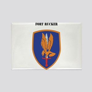 Fort Rucker with Text Rectangle Magnet
