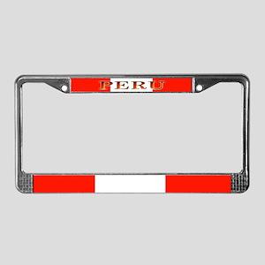 Peru Peruvian Blank Flag License Plate Frame