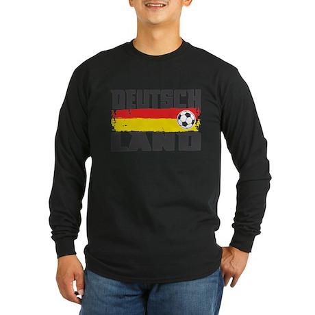 Deutschland Soccer Long Sleeve Dark T-Shirt